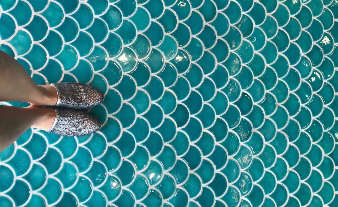 5 ways to use fish scale tiles in your home