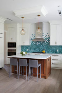 Fish scale tiles in kitchen