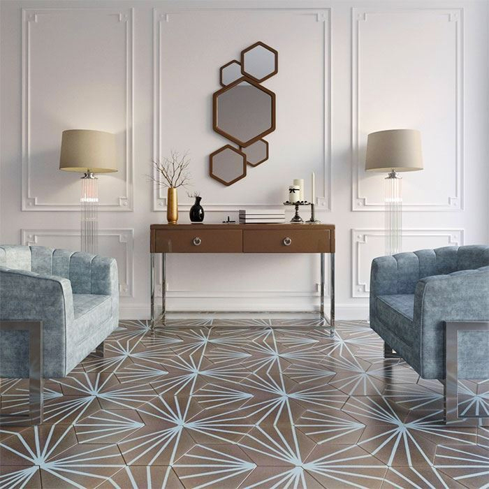 Muted neutral tiles