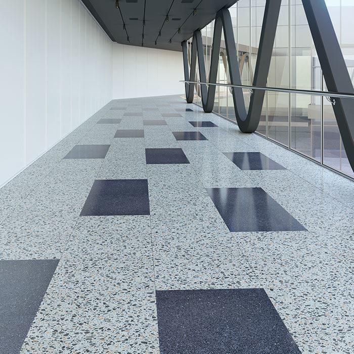 Installing Terrazzo Floor Tiles